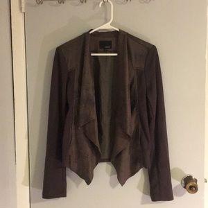 Jackets & Blazers - Grey suede jacket size M